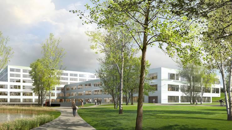 Visualisierung des Neubaus Spital Limmattal.