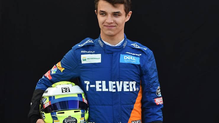 Einer der drei Neulinge in der Formel 1: Lando Norris