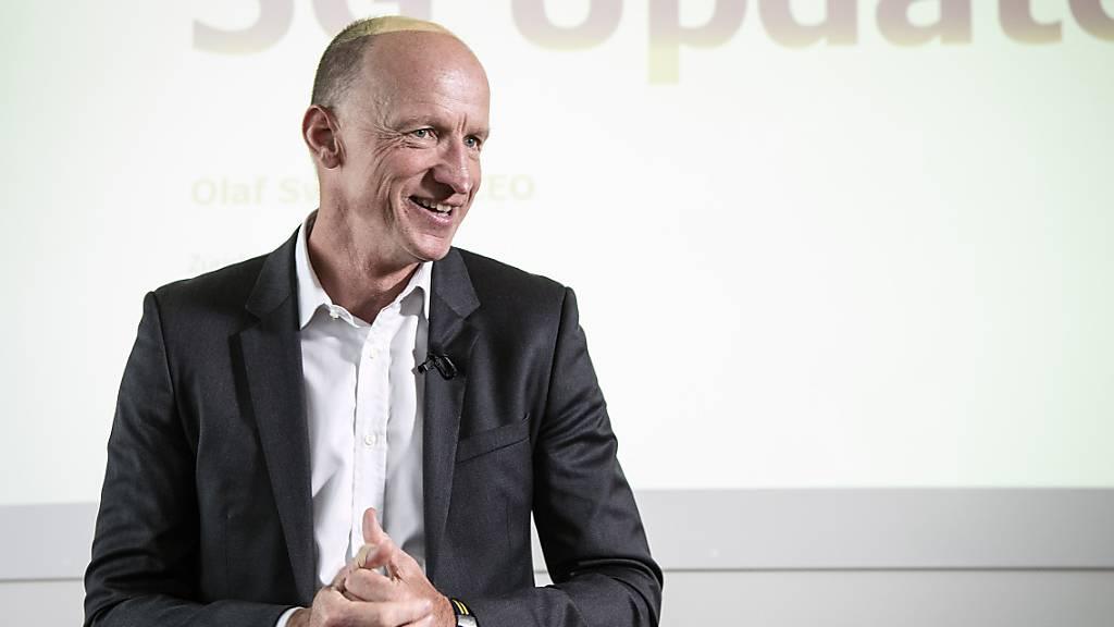 Sunrise-Chef Olaf Swantee erhält bei seinen Bemühungen zum geplanten Kauf von UPC weitere Unterstützung. Die Nachhaltigkeits-Ratingagentur Inrate empfiehlt die dafür vorgesehene Kapitalerhöhung zur Annahme.(Archivbild)