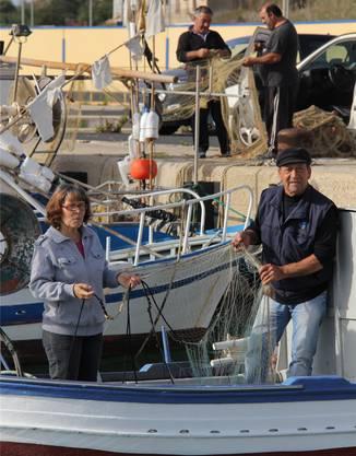 Sieht die Flüchtlinge auf dem Meer treiben: Rosario Corallo mit seiner Frau Luise.