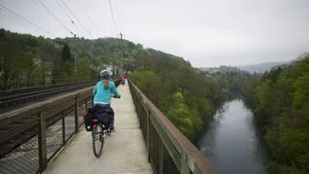 Der Radweg zwischen Baden und Wettingen