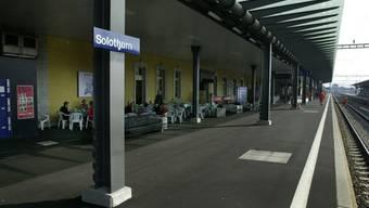 Auf diesem Bahnsteig wartete die Rentnerin auf ihren Zug nach Olten.