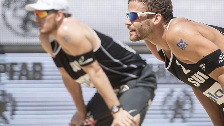 Marco Krattiger (rechts) und Nico Beeler stehen an den Europameisterschaften in den Niederlanden im Viertelfinal