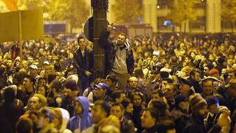 Demonstration am Mittwoch vor dem Parlament in Bukarest