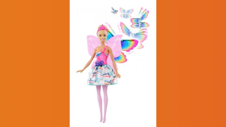 Wunsch-Nr. 19, Elissa, 4 Jahre, Barbie Dreamtopia Regenbogen-Königreich Magische Flügel Fee (blond), CHF 37.95, zB bei Franz Carl Weber