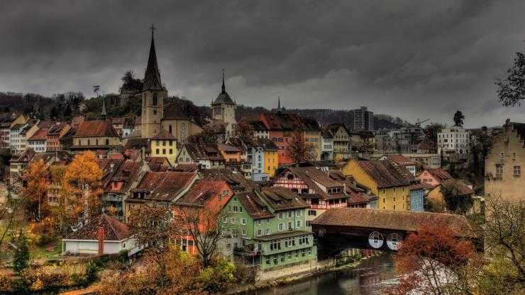 Für die besten Fotos reist Martin Gessler im ganzen Kanton Aargau herum: Die Stadt Baden.