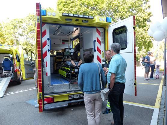 Blitzschnell zur Stelle ist der Rettungsdienst des Spitals Laufenburg.