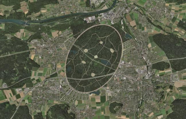 Der «Central Park» ist wohl das markanteste Merkmal der Waldstadt Lenzburg.