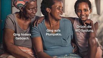 Dieses Plakat der Helvetas wird als rassistisch kritisiert.