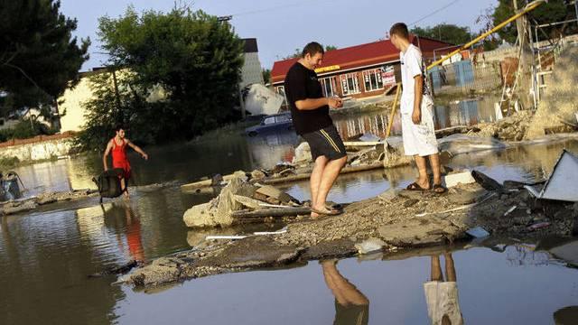 Die russische Stadt Krimsk hat schwer unter den Fluten gelitten (Archiv)