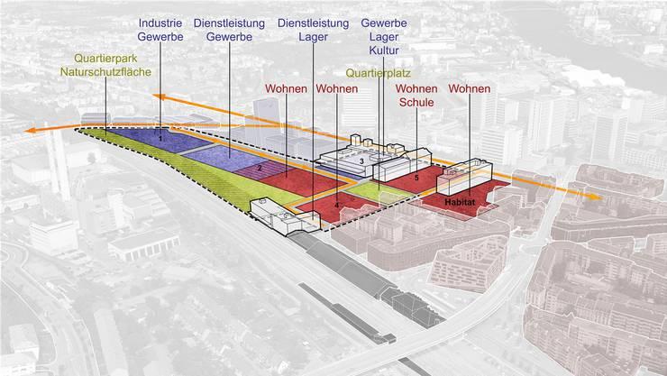 Das Industrieareal Lysbüchel soll künftig als Volta Nord auch Platz für Wohnungen bieten.