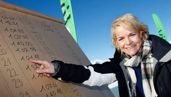 Gehört sie auch heute noch zu den Gewinnerinnen? Regina Ammann nach dem 53. Britisch-Schweizerischen Parlamentarier-Skirennen auf Pischa 2009 in Davos.
