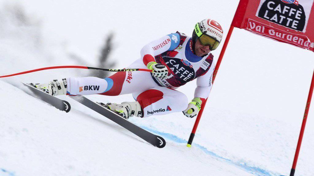 Beat Feuz - in Val Gardena unterwegs mit Nummer 1.