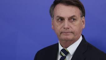 Der Oberste Gerichtshof Brasiliens hat eine Untersuchung gegen den Präsidenten des Landes, Jair Bolsonaro, wegen politischer Einflussnahme zugelassen. (Archivbild)