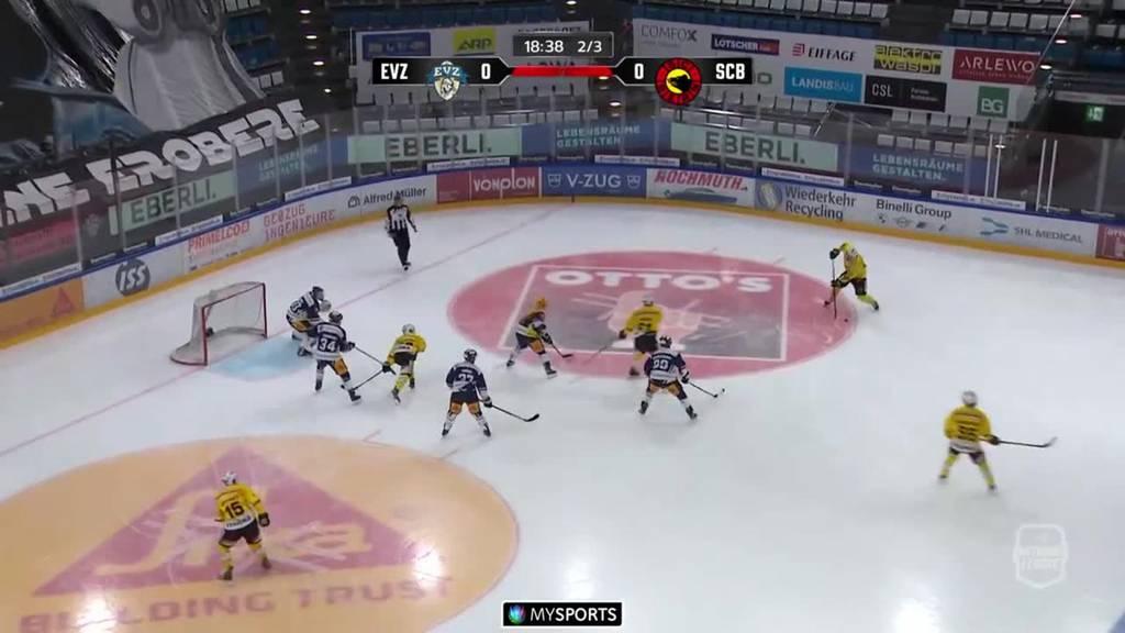 3:0 - Der EVZ gewinnt gegen den SC Bern