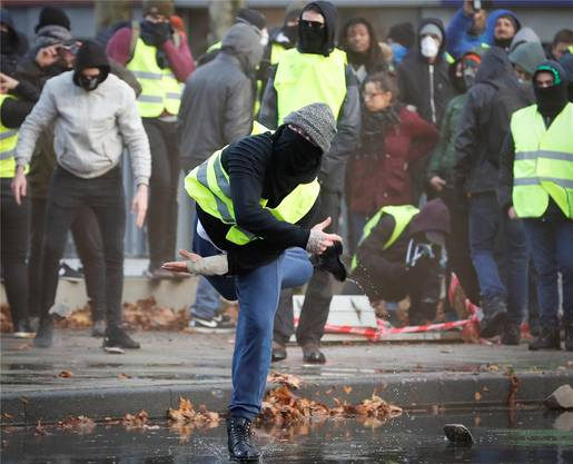 Jetzt auch in Belgien: Die Protestbewegung der gelben Westen breitet sich über Frankreich hinaus aus.
