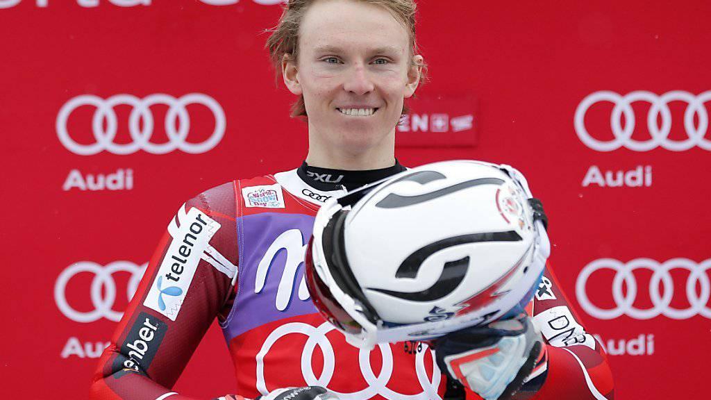 Der erst 21-jährige Norweger Henrik Kristoffersen hat in diesem Winter fünf von sechs Slaloms gewonnen