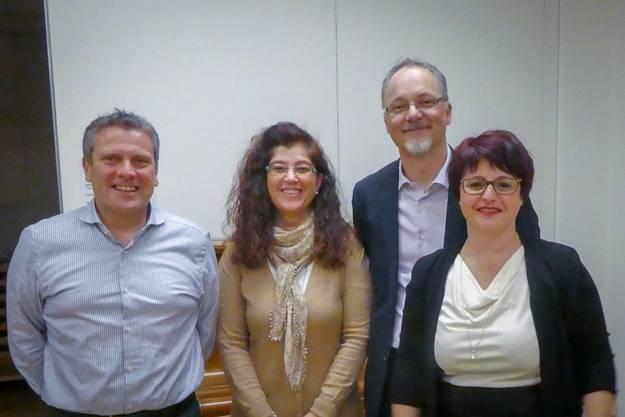 Der neue Vorstand des Kulturvereins Erlinsbach (v.l.n.r): Armin Schwegler; Maja Kyburz; Ruedi Döbeli; Katya Döbeli