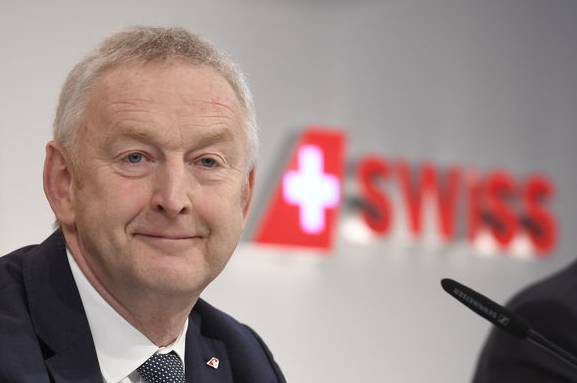 Swiss-CEO Thomas Klühr an der Medienkonferenz vom Donnerstag.