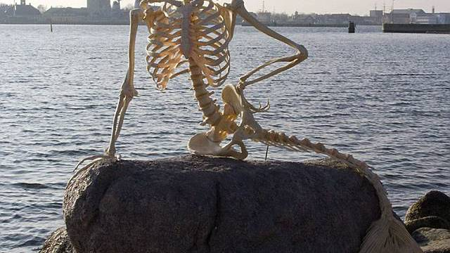 Meerjungfrauen Skelett