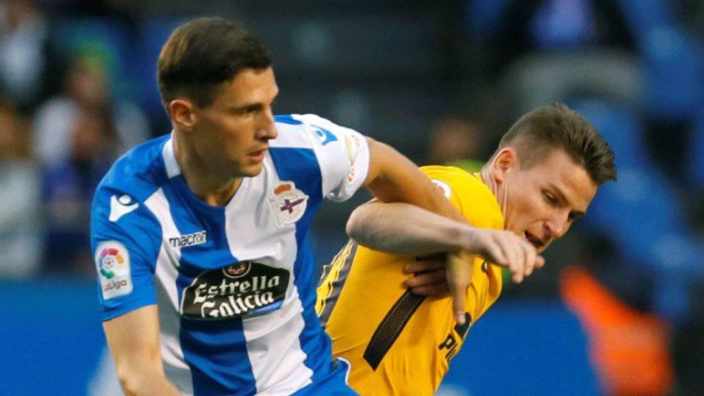 Fabian Schär trifft in seinem zehnten Ligaspiel für Deportivo La Coruña erstmals