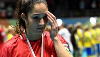 Captain Flurina Marti ist nach der Niederlage gegen Schweden sichtlich enttäuscht.