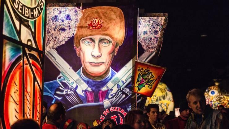 Letztes Jahr gab's am Morgestraich unter anderem Putin zu sehen. (Archiv)