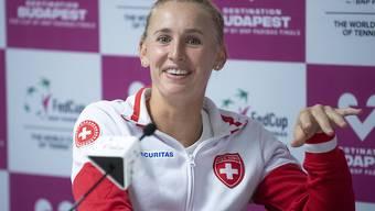 Jil Teichmann kann strahlen: Sie bestreitet neben Belinda Bencic die Einzel gegen Kanada