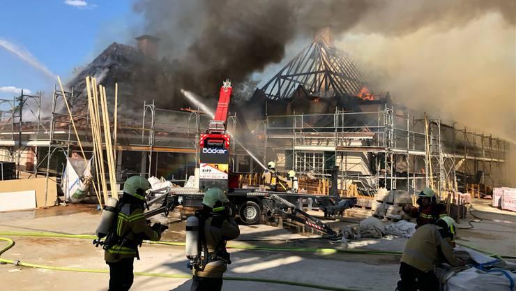 Brand im Dachstuhl in Allschwil.