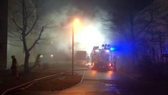Feuerwehr rückte zu Brand in Untersiggenthal aus.
