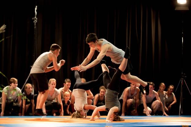 Die Jugendriege des TV Messen demonstrierte ihr akrobatisches Können.