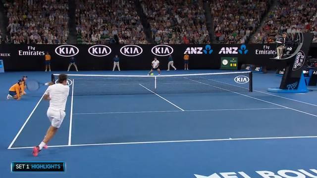Roger Federer steht im Australian-Open-Final