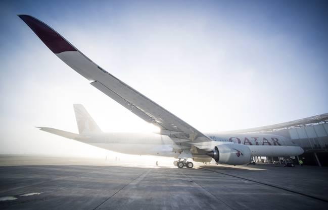 Die gewaltigen Ausmasse des Airbus A350.