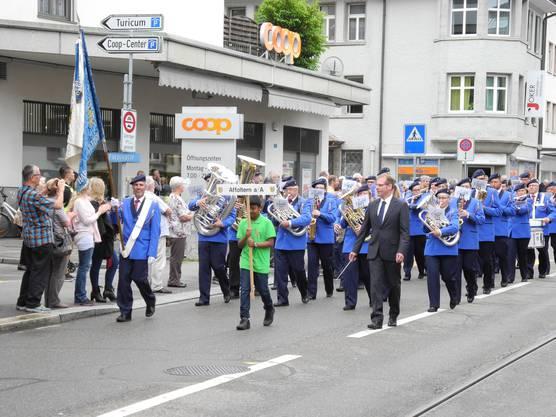 Die Marschmusikparade am Samstag.