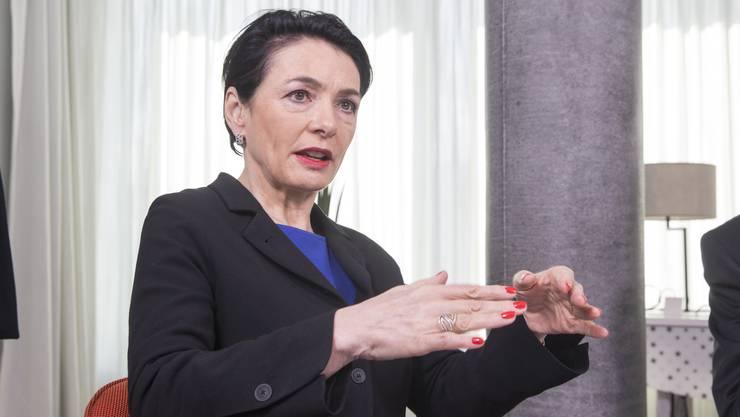 Sie findet, dass das Parlament gerade in Krisenzeiten wie jetzt tagen soll: Nationalrätin Marianne Binder (CVP).