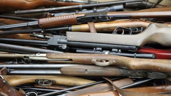 Ausrangiert: Mehr als 600 Schusswaffen wurden entsorgt. (Bild: Andy Müller)