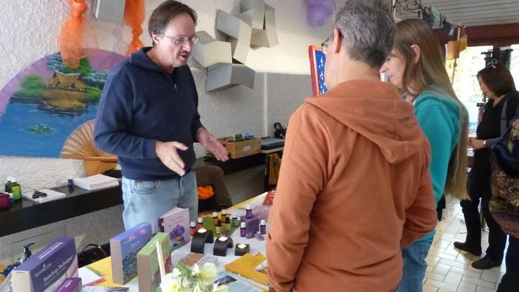 Marktstand anlässlich des Jubiläumsfestes in Lenzburg