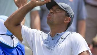 Tiger Woods hatte bei seiner tollen Runde auch noch Pech