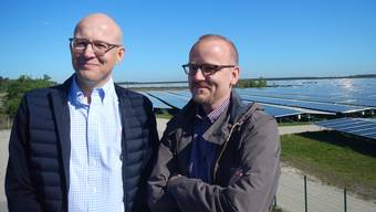 Rapides Wachstum mit dezentraler erneuerbarer Energie: Aventron-Verwaltungsratspräsident Cédric Christmann und CEO Antoine Millioud.