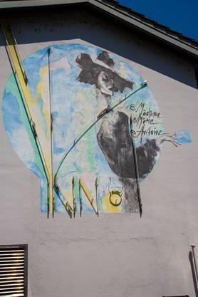 Die erste Badener Kinobetreiberin Marie Antoine, gemalt vom Badener Künstler Attila Herendi