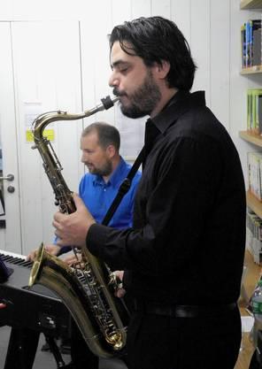 Saxaphonist Alan Rusconi und Pianist Marcel Mattenberger sorgten für einen stimmigen musikalischen Rahmen.