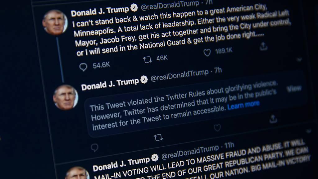 Twitter versteckt Trump-Tweet hinter Warnhinweis