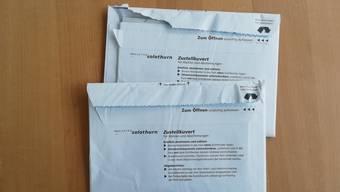 Rund 30 Walterswiler erhielten einen bereits aufgerissenen Abstimmungsbrief.