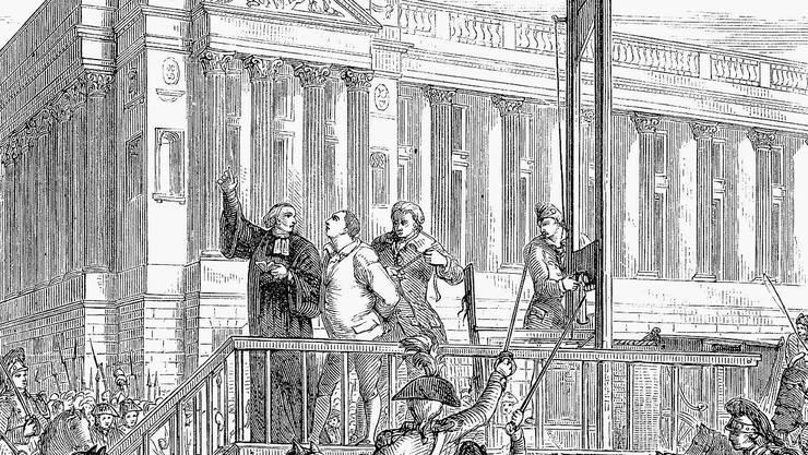 Tod durch Guillotine: König Louis XVI. wurde 1793 in Paris hingerichtet.