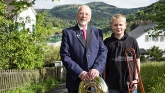 Gut gerüstet für den Kantonalen Musiktag beider Basel: Hans Feldner (links) und Roman Bader.