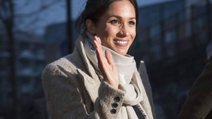 Die ehemalige Schauspielerin und künftige Ehefrau von Prinz Harry, Meghan Markle, verabschiedet sich von Facebook, Twitter und Co. (Archivbild)