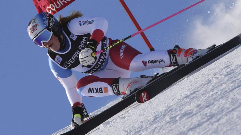 Mélanie Meillard in Courchevel zum 6. Platz, ihrem bislang besten Ergebnis in einem Weltcup-Riesenslalom
