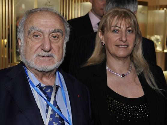Nicolas Hayek und seine Tochter Nayla