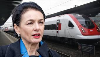 Marianne Binder wehrte sich schon als CVP-Grossrätin, jetzt als Nationalrätin gegen drohende Verschlechterungen des Bahnangebots.