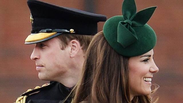 Werden wieder Eltern: Kate und William (Archiv)